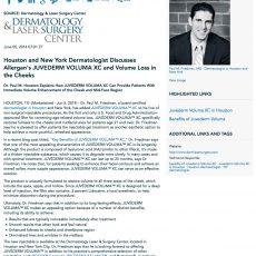 Dermatology News Press Releases Houston TX New York City NY
