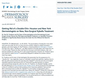 Getting Rid of a Double-Chin: Houston and New York Dermatologists On ...